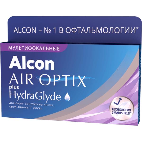 Air Optix plus HydraGlyde Multifocal (3 линзы)